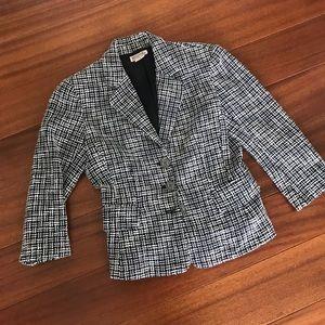 Michael Kors blue tweed blazer